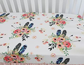 Baby Girl Floral Fitted Crib Sheet Toddler Bed Mattresses fits Standard Crib Mattress 28x52
