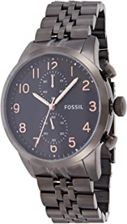 Fossil Watch for Men, Stainless Steel Band, FS4934