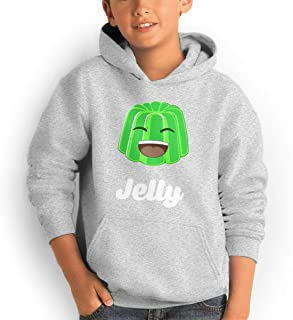 AOOIUU JellyYT Logo Youth Teen Pullover Hooded Pocket Sweater for Boys and Girls
