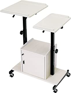 Oklahoma Sound AV Cart Computing Wrist Rest, Ivory Wood (PRC300)