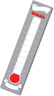 Dry Erase Goal Setting Fundraising Thermometer Grey Goal Chart Temperature Poster for Office Classroom or Kids