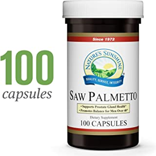 Nature's Sunshine Saw Palmetto, 100 Capsules, Kosher   Naturally Helps Improve Prostate Health and Helps Balance Hormones for Adult Men and Women