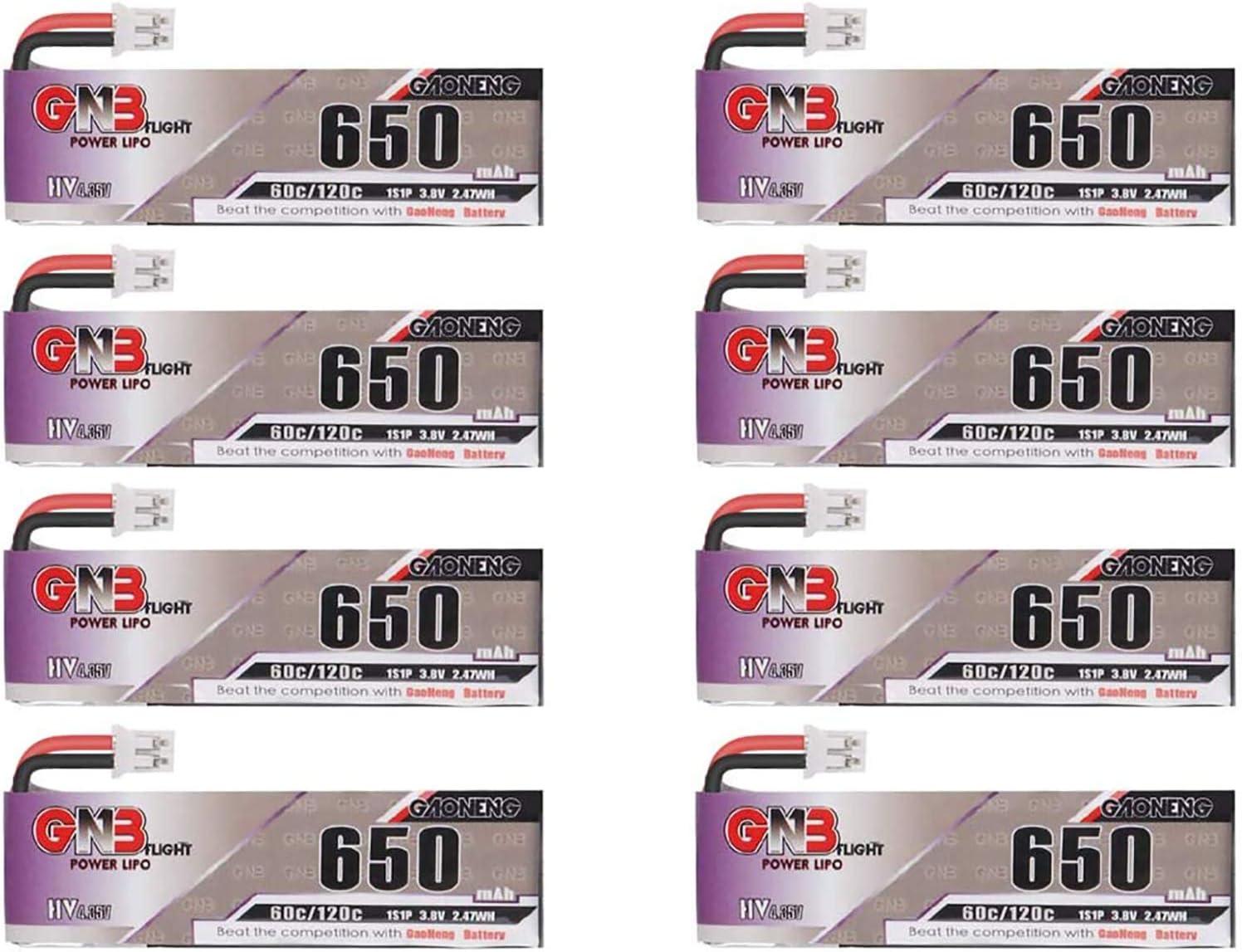 8PCS Gaoneng 650mAh 1S LiPo Battery Chicago Mall HV 3.8V JST-PH 2.0 Free Shipping Cheap Bargain Gift 60C with