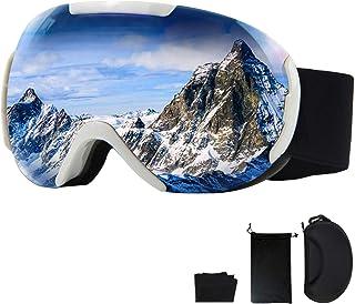 Snowboard Goggles, Snow Goggles Women and Men OTG Design UV Protection Anti-Fog