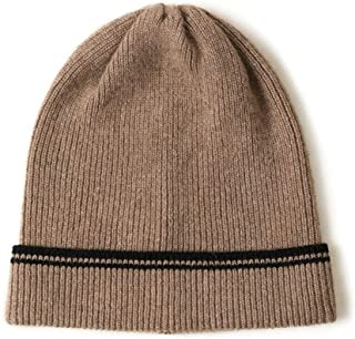 Graceful Ms. Warm Autumn and Winter Fashion Wild Outdoor Hat Knitted Cashmere Hat (Size) (Color : Brown)