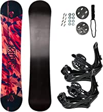 STAUBER Summit Snowboard & Binding Package Sizes 128, 133, 138, 143, 148,153,158, 161- Best All Terrain, Twin Directional, Hybrid Profile - Adjustable Bindings - Designed for All Levels