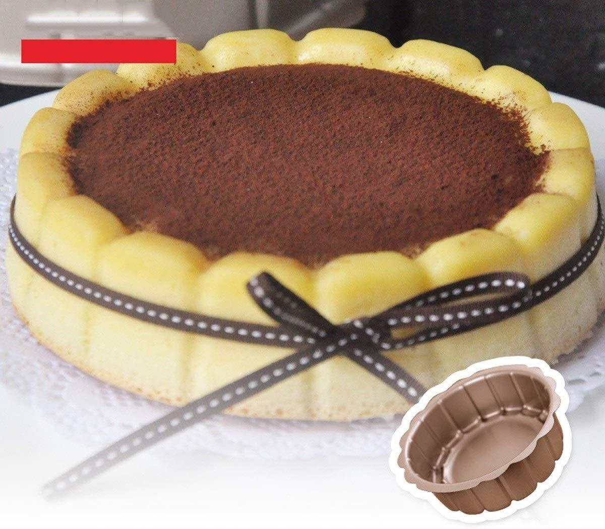 SHTSH Outil de cuisson 6 pouces antiadhésif de cuisson Plateau moule (Color : Gold) Gold