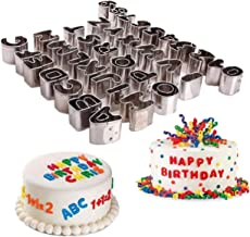 26PCS 3D Letters Stainless Steel Sugarcraft Sets Cup Cake Fondant Cookie Cutters Cake Decorating Plunger Cutters Icing Modelling Tool Cake Cutter Fondant Molds Cookie Tool