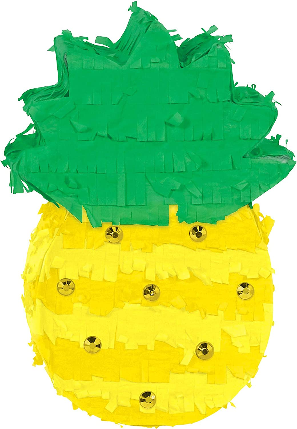 Amscan Party Mini Pineapple Ranking TOP2 Decoration Max 64% OFF yellow one green size