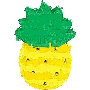 Pineapple Pull Pinata Pinatas Tropical Party Decor Meri Meri