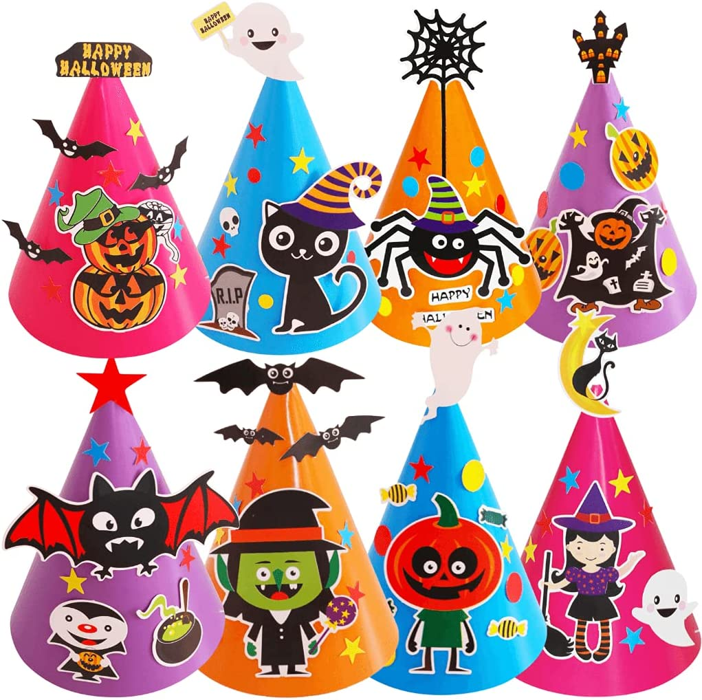 Halloween Party Today's only Hats - Fun Same day shipping Decoration Cone 8 Pa of Kit
