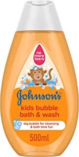JOHNSON'S Toddler & Kids Bubble Bath & Wash, Gentle Formula Free of Parabens & Dyes, 500ml