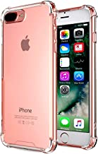 iBarbe Clear Case Compatible with iPhone 7/8 Plus, Cushion Shock-Absorbing TPU Case Flexible Ultra-Thin Protective Shock-Absorption Bumper Anti-Scratch Heavy Duty Absorption Technology Bumper