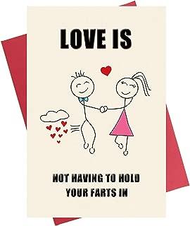 Funny Anniversary Card, Rude Birthday Card, Love Card for Girlfriend Boyfriend Him Her Wife Husband