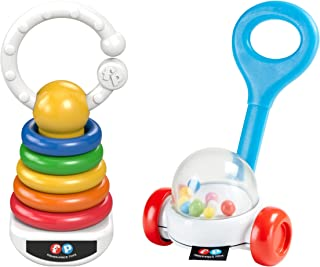 Fisher Price Corn Popper Rattle & Rock-A-Stack Clacker Set