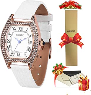 AIKURIO Women Classic Watch Analog Quartz with Leather Strap 30M Waterproof AKR005