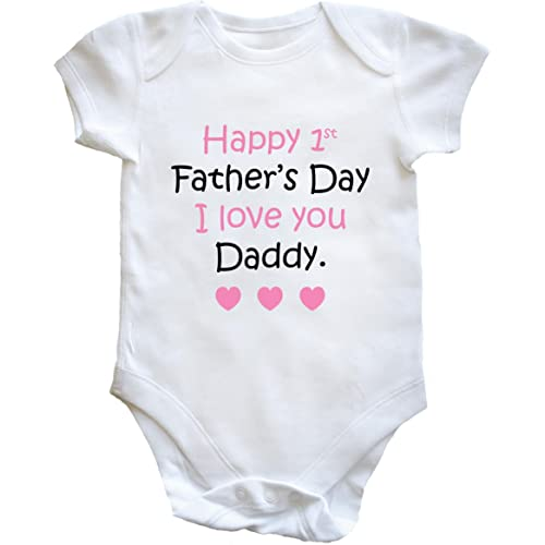 Happy First/'s Father/'s Day Daddy Long Sleeve Vests Fathers Fay Gift from Baby