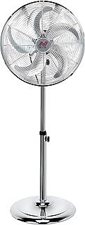 NETTA 16 Inch Metal Floor Fan, Oscillating Standing Fan With 5 Blades,3 Speeds,Silent Operation-50W