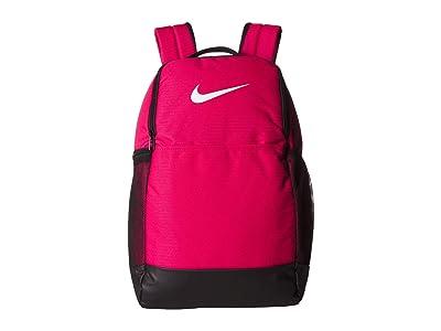 Nike Brasilia Medium Backpack 9.0 (Rush Pink/Black/White) Backpack Bags