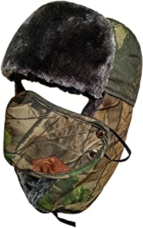 Camo Winter Hunting Hat Faux Fur Unisex Trapper Trooper Russian Ushanka Hat
