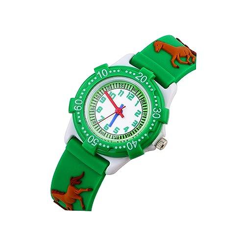 Los Niños Reloj para Niños Niñas de Vinmori, 3D Tiempo Maestro Todder Historieta Ver,