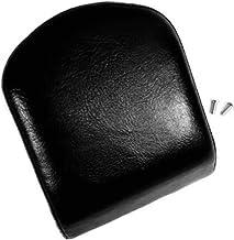 Smooth Top Stitched Rear Passenger Medium Low Backrest Pad for Harley Davidson Softail Fat Boy Dyna Street Bob Sportster Iron Sissy Bar Pads Upright Back Rest Sissybar Medallion Uprights REF 52626-04