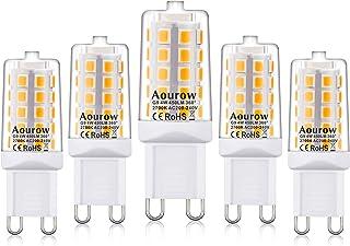 Bombilla LED G9,Luz Blanca Cálida 2700K,Luz LED G9 4W,450lm,Equivalente a 28W,33W,40W Bombillas Halógenas,No Regulable,Sin Parpadeo,Paquete de 5