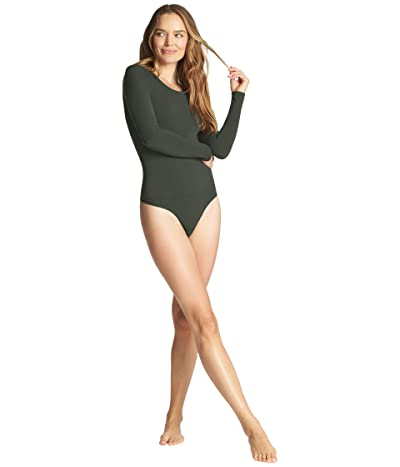 Yummie Seamless Long Sleeve Thong Back Body Suit (Climbing Ivy) Women