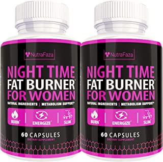 (2 Pack) Night Time Fat Burner - Effective Weight Loss Pills - Powerful Fat Burners for Women - Sleep Aid Diet Pills, Appe...