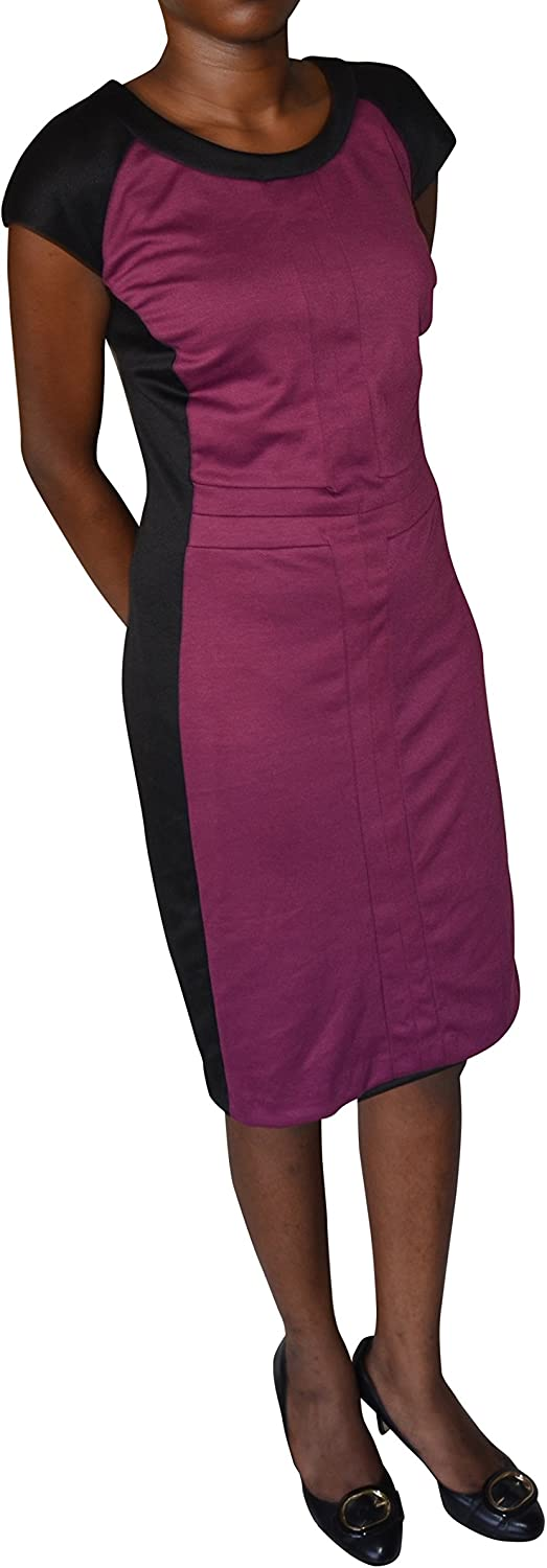 NY Collection Plus Cap-Sleeve Colorblocked A-Line Dress Size 1X