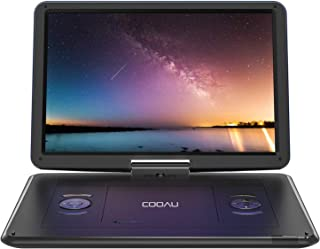 "COOAU 15.6"" Portable DVD Player with Remote Controller, Large 270 Degrees Swivel Screen, 6 Hrs Long Lasting Built-in Batte..."