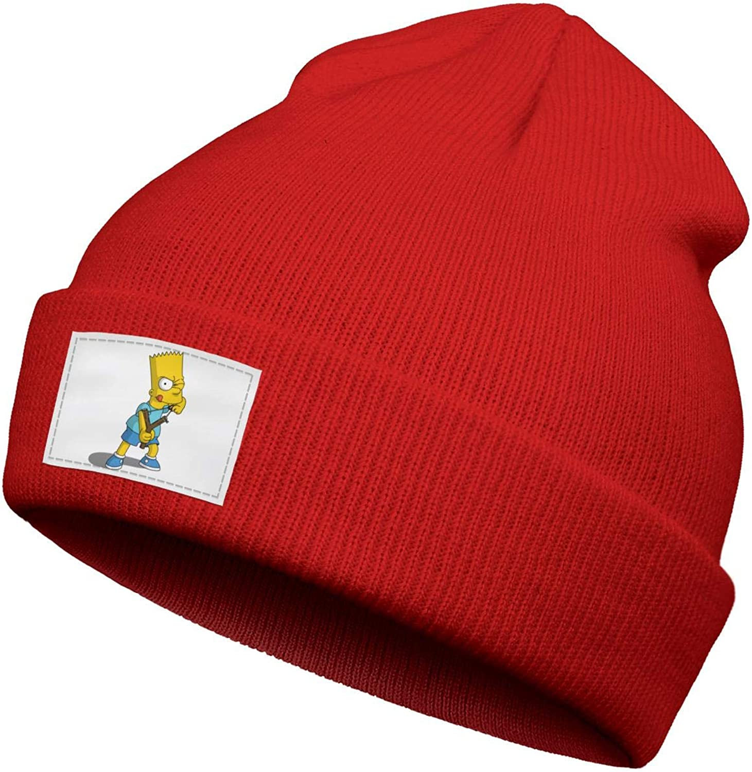 The Simpsons hat Boys Winter Knitted Beanie Children Slouchy Cuffed Knit Girl Hat