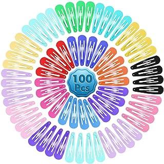 Cridoz 100 Pcs Barrettes Hair Clips Hair Barrettes Snap Clips for Women Girls Hair Tools Accessories