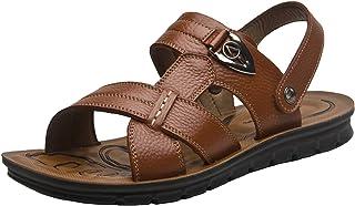 WUIWUIYU Men's Big Size Magic Strap Outdoors Gladiator Beach Sandals