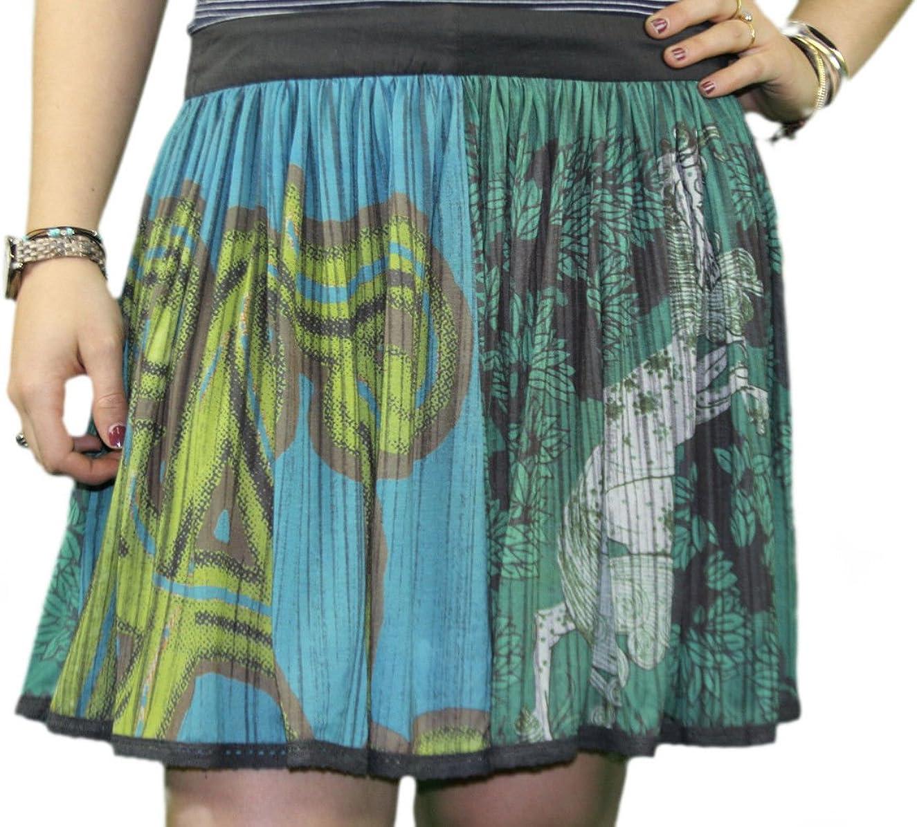 Custo Barcelona Women's Fly Forest Graphic Mini Peasant Skirt 593660