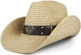 Sun Hat for men and women Men Hollow Western Cowboy Hat Handmade Weave Straw Lady Dad Sombrero Hombre Cowgirl Jazz Caps Bull Head Band Panama Hat