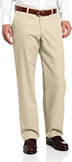 LEE Men's Total Freedom Relaxed Fit Flat Front Pant - 36W x 34L - Sand
