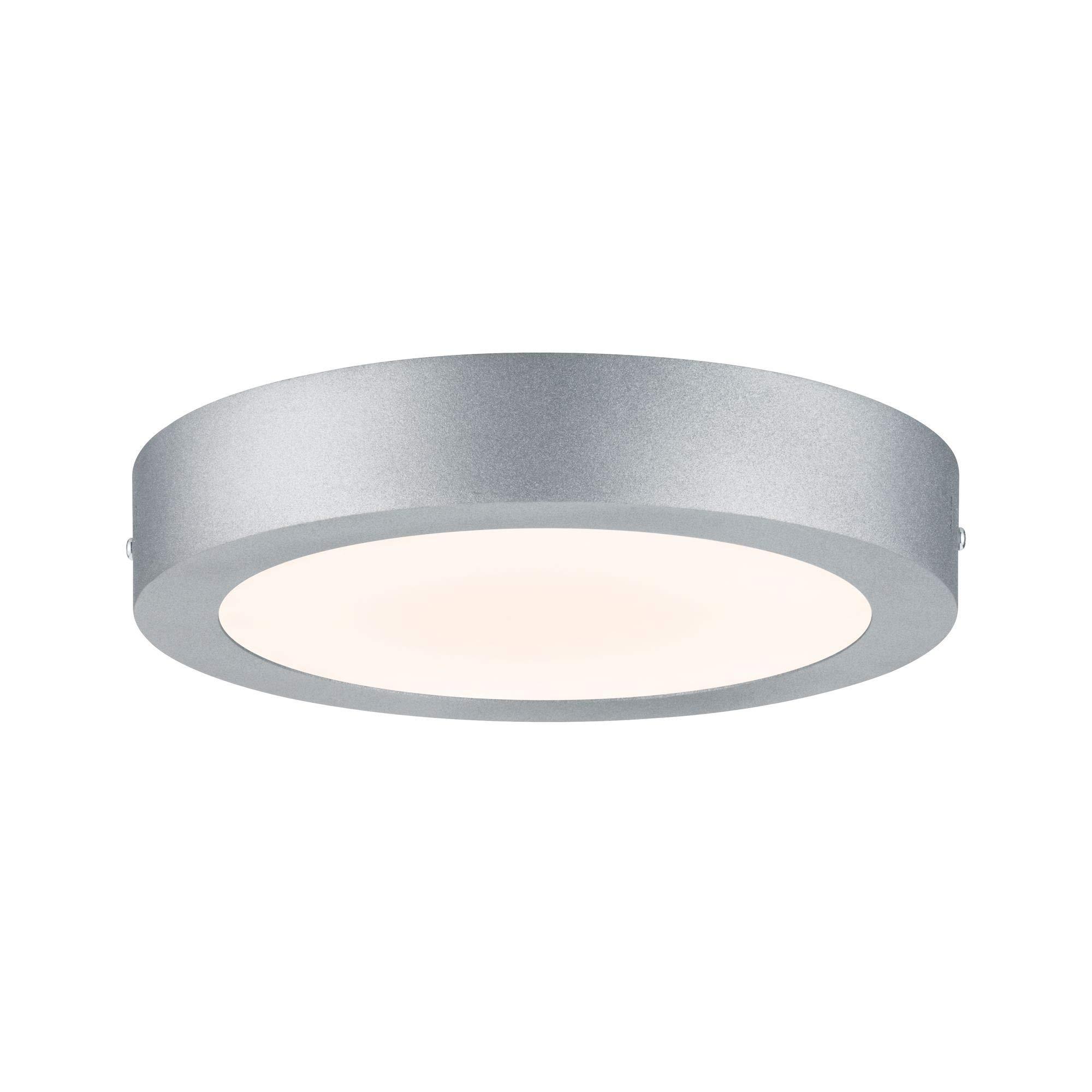 Paulmann Berman 706.54ウォールシーリングルナLEDパネル225 mm 15 W 230 Vクロムマットアルミ70654天井灯