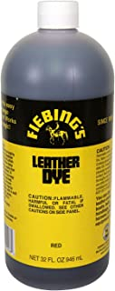 Fiebing's FILDYE68P032Z Leather Dye - Red, 32 oz