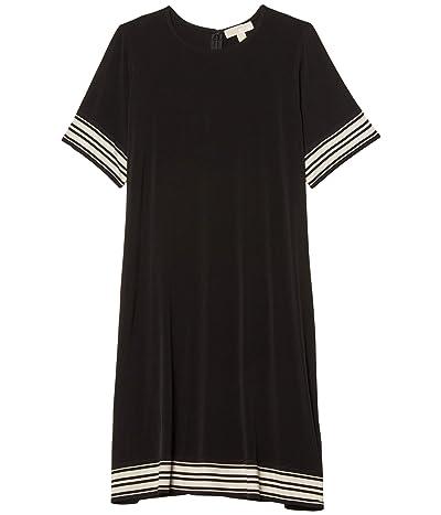 MICHAEL Michael Kors Plus Size Solid Border Dress (Black) Women