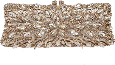 Fawziya Rhinestone Baguette Clutches Purses For Women Fashion Handbags
