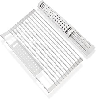 Fregadero multiusos enrollable para secar platos, 2020, con función de artículos de lugar de acero inoxidable y silicona p...