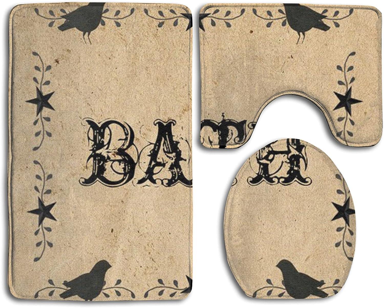 Mescchskblack Birds Print Bathroom Pad Environmental Long Beach Mall Antiskid Pr Cheap SALE Start