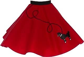 Hip Hop 50s Shop 1950s Poodle Skirt for Girls, Retro Felt Skirt, Children's Costume for Halloween