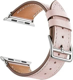 LEUNGLIK Watch Band Compatible for Apple Watch 38mm 40mm 42mm 44mm,2019 Dressy Fancy Jewelry Genuine Leather Bands Compatible for iWatch Series 4/Series 3/Series 2/Series 1