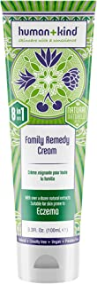 Human+Kind Family Remedy Cream - 8-in-1 Miracle Formula - For Irritated, Itchy, Dry, Cracked Skin, Stretch Marks, Scars, R...