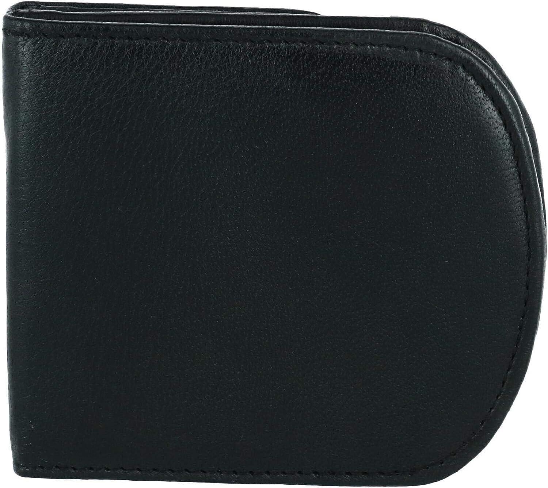 CTM Men's Leather Front Pocket C-Fold Taxi Wallet