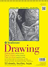 """Strathmore 300 Series Drawing Pad, Medium Surface, 9""""x12"""", Wire Bound, 50 Sheets"""