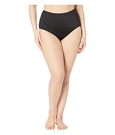 24th & Ocean Plus Size Solids High-Waist Pant Bottoms (Black) Women