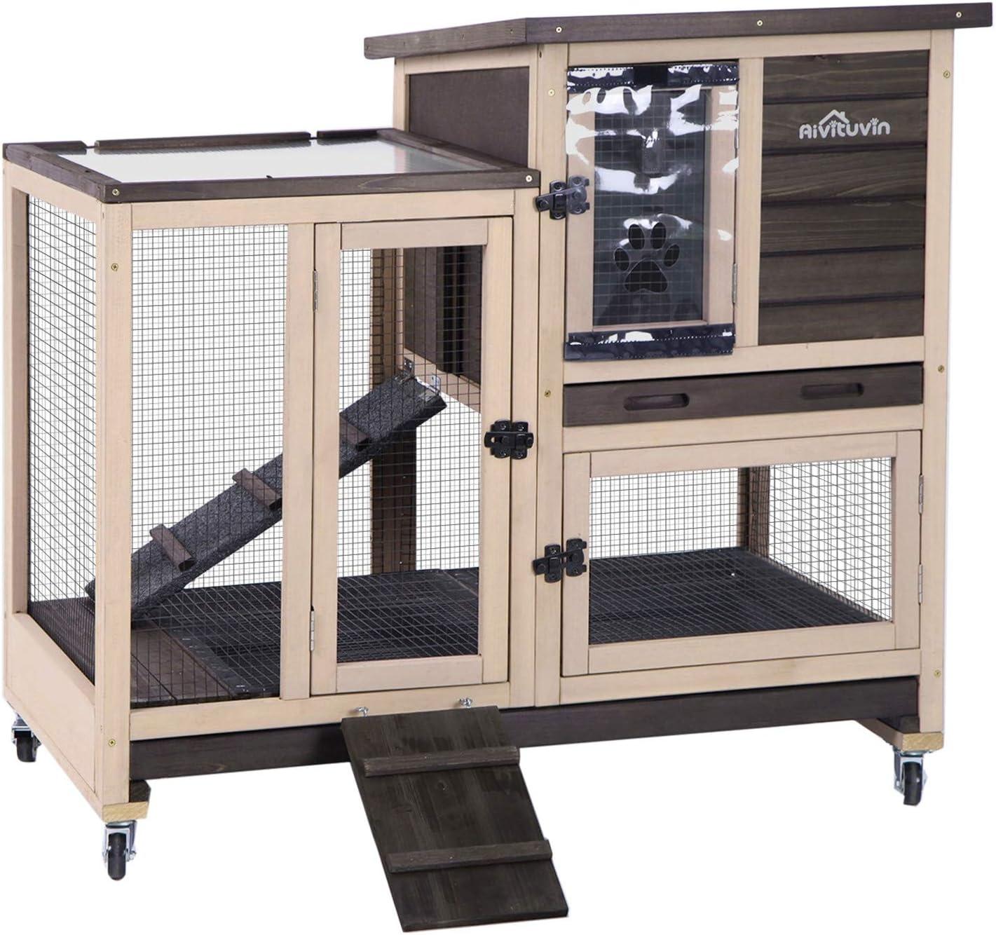 Buy Upgrade Rabbit Hutch Rabbit Cage Indoor Bunny Hutch with Run ...